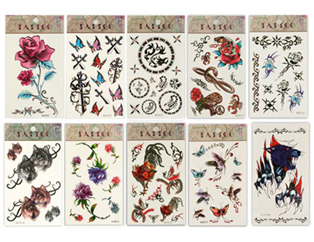 Rose Flower Temporary Tattoos 5 Pcs. SKU:A1808000CA purple tattoo
