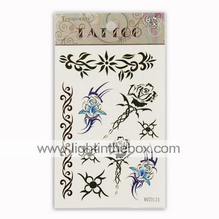 Beautiful Butterfly Temporary Tattoos One Sheet(TYWS0023) - US$   0.40